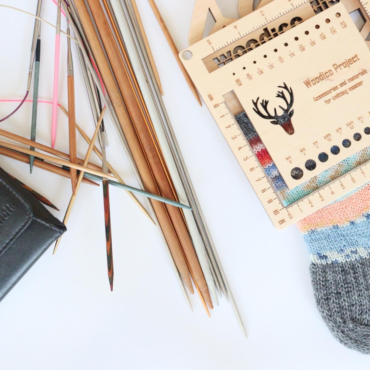 woodico.pro knitmetr 7 1200x1200 - Knitting needle gauge and ruler / Knitmetr